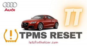 How to reset the TPMS on Audi TT 2008-2012 Tire Pressure Monitoring System Relearn