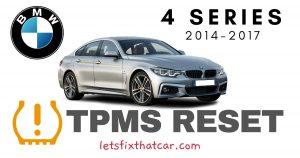 TPMS Reset-BMW 4 Series 2014-2017 Tire Pressure Sensor