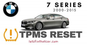 TPMS Reset-BMW 7 Series 2000-2015 Tire Pressure Sensor