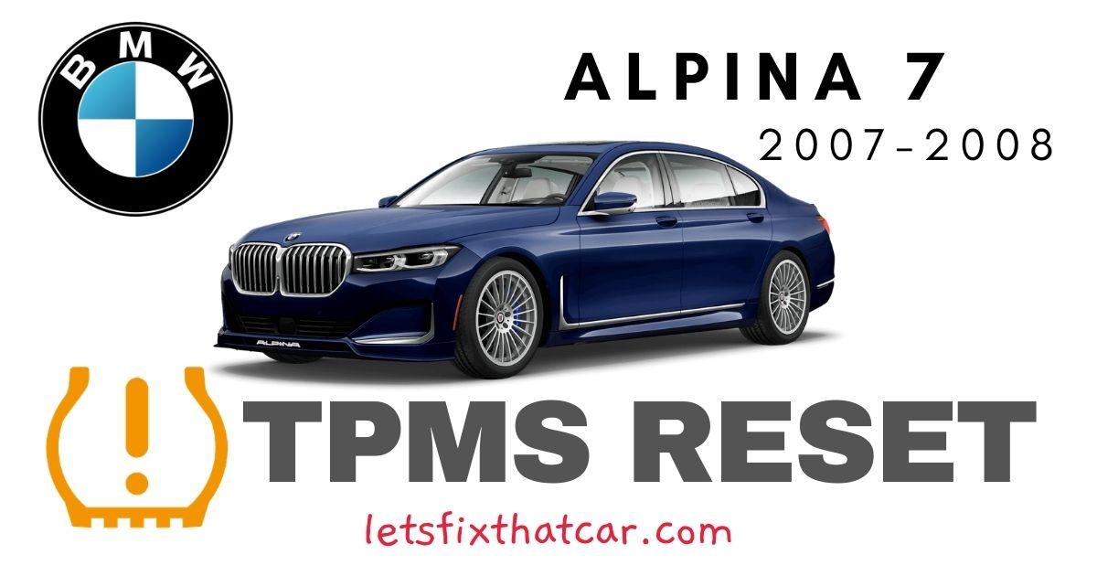 TPMS Reset-BMW Alpina B7 2007-2008 Tire Pressure Sensor