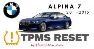 TPMS Reset-BMW Alpina B7 2011-2015 Tire Pressure Sensor