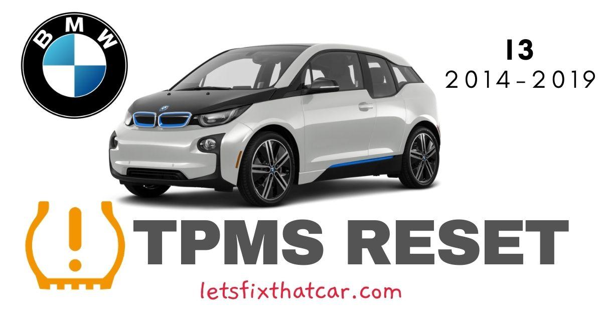 TPMS Reset-BMW I3 2014-2019 Tire Pressure Sensor