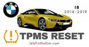 TPMS Reset-BMW I8 2014-2019 Tire Pressure Sensor