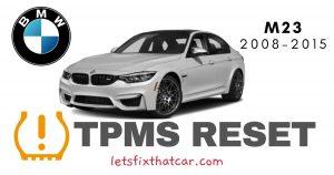 TPMS Reset BMW M3 2008-2015 Tire Pressure Sensor
