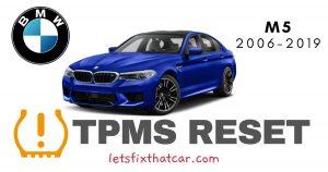 TPMS Reset- BMW M5 2006-2019 Tire Pressure Sensor
