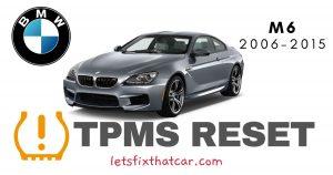 TPMS Reset-BMW M6 2006-2015 Tire Pressure Sensor