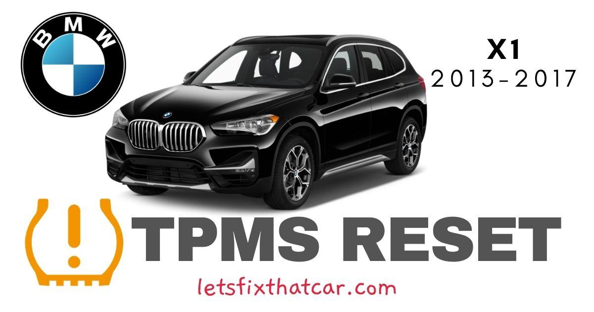 TPMS Reset-BMW X1 2013-2017 Tire Pressure Sensor