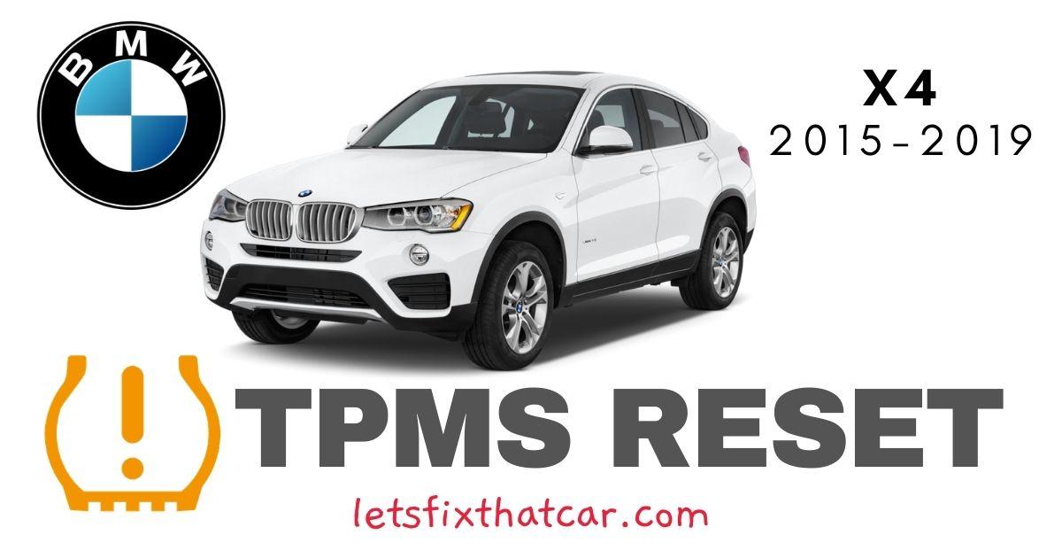 TPMS Reset-BMW X4 2015-2019 Tire Pressure Sensor