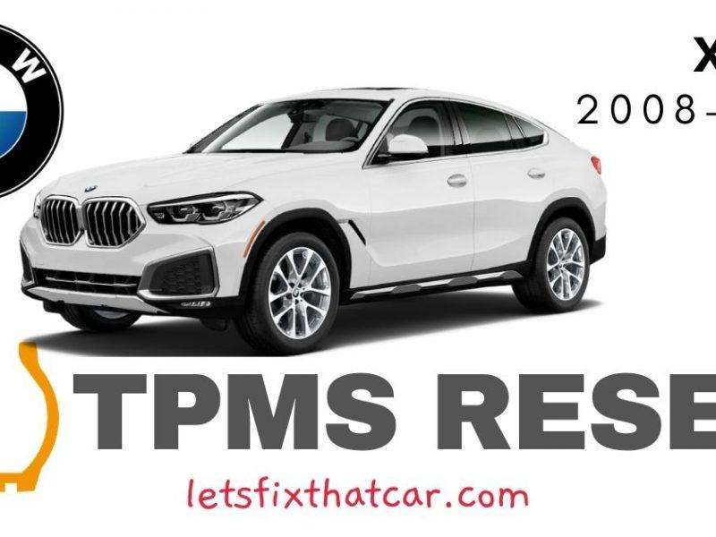 TPMS Reset-BMW X6 2008-2010 Tire Pressure Sensor