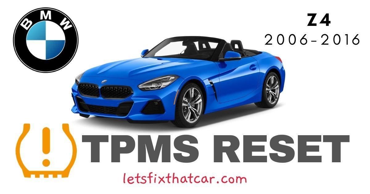 TPMS Reset BMW Z4 2006-2016 Tire Pressure Sensor