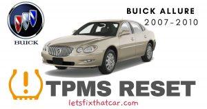 TPMS Reset Buick Allure 2007-2010 Tire Pressure Sensor