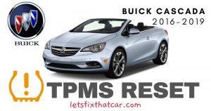 TPMS Reset-Buick Cascada 2016-2019 Tire Pressure Sensor
