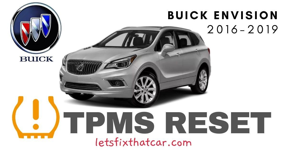 TPMS Reset-Buick Envision 2016-2019 Tire Pressure Sensor