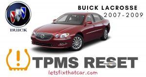 TPMS Reset-Buick Lacrosse 2007-2009 Tire Pressure Sensor