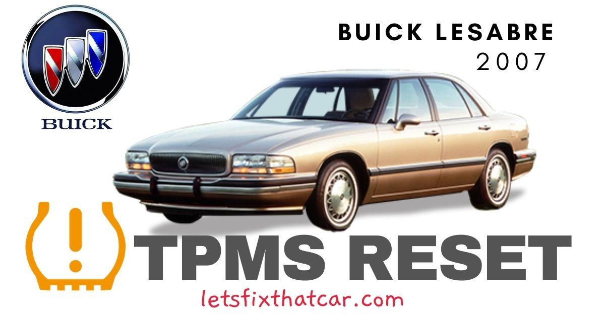 TPMS Reset-Buick LeSabre 2007 Tire Pressure Sensor