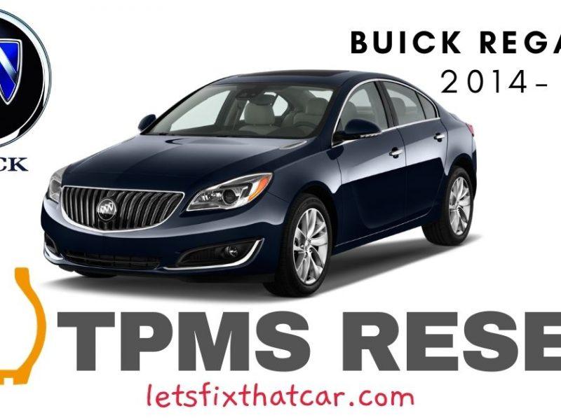 TPMS Reset-Buick Regal 2014-2017 Tire Pressure Sensor
