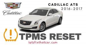 TPMS Reset-Cadillac ATS 2016-2017 Tire Pressure Sensor