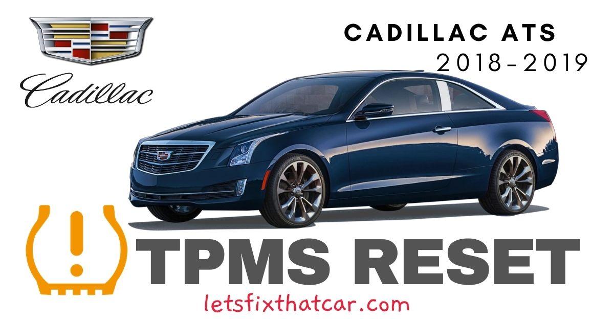 TPMS Reset-Cadillac ATS 2018-2019 Tire Pressure Sensor