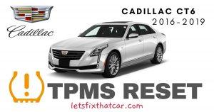 TPMS Reset-Cadillac CT6 2016-2019 Tire Pressure Sensor