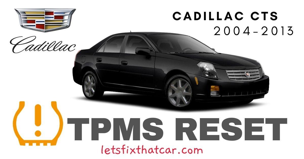 TPMS Reset-Cadillac CTS 2004-2013 Tire Pressure Sensor