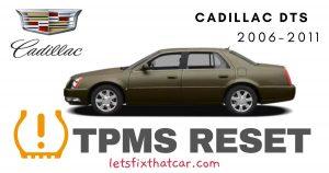 TPMS Reset-Cadillac DTS 2006-2011 Tire Pressure Sensor