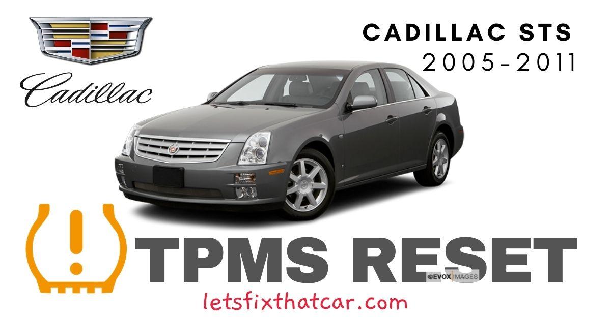 TPMS Reset-Cadillac STS 2005 – 2011 Tire Pressure Sensor