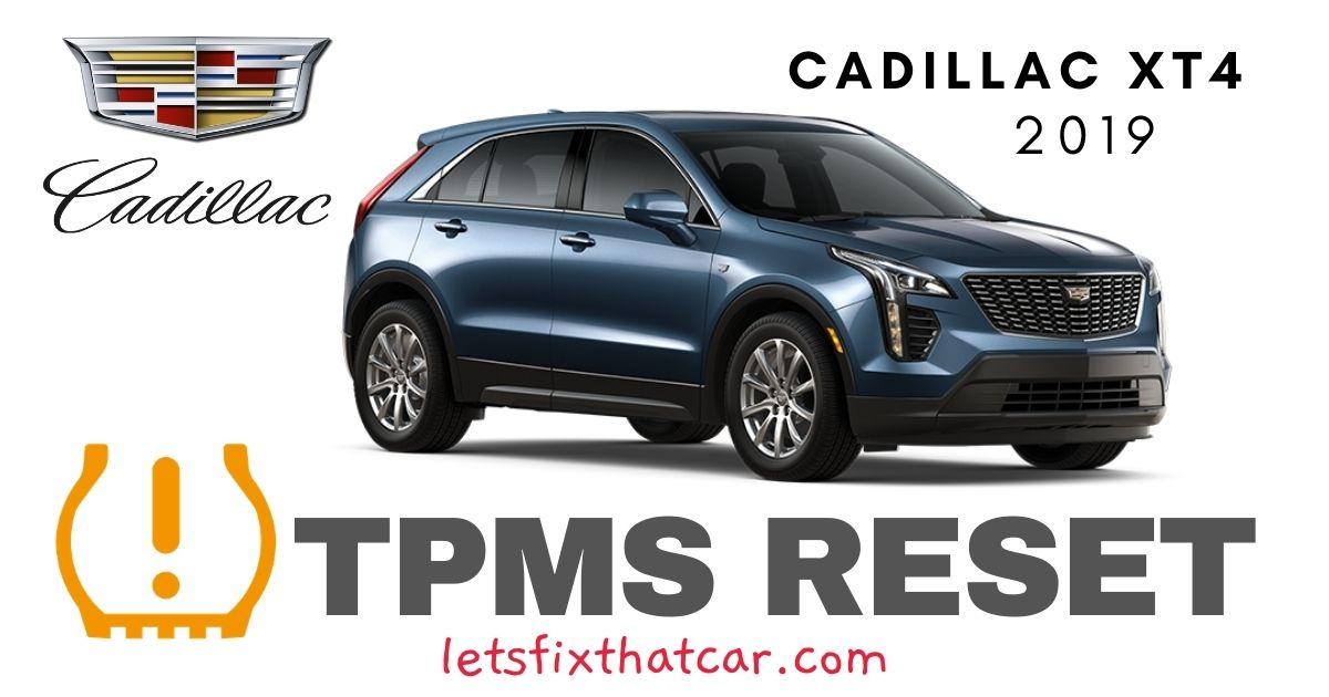 TPMS Reset-Cadillac XT4 2019 Tire Pressure Sensor