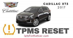 TPMS Reset-Cadillac XT5 2017 Tire Pressure Sensor