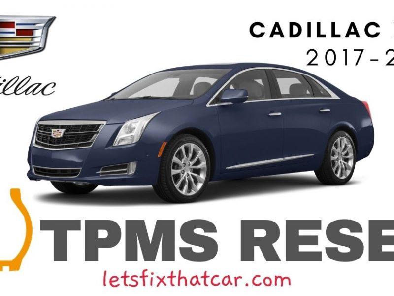 TPMS Reset-Cadillac XTS 2017-2019 Tire Pressure Sensor