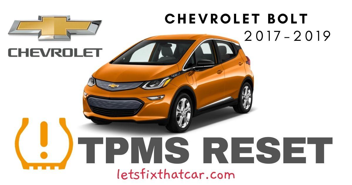 TPMS Reset-Chevrolet Bolt 2017– 2019 Tire Pressure Sensor