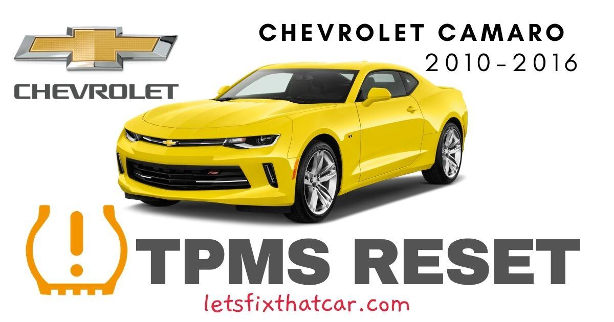 TPMS Reset-Chevrolet Camaro 2010 – 2016 Tire Pressure Sensor