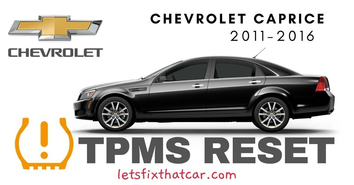 TPMS Reset-Chevrolet Caprice 2011 – 2016 Tire Pressure Sensor