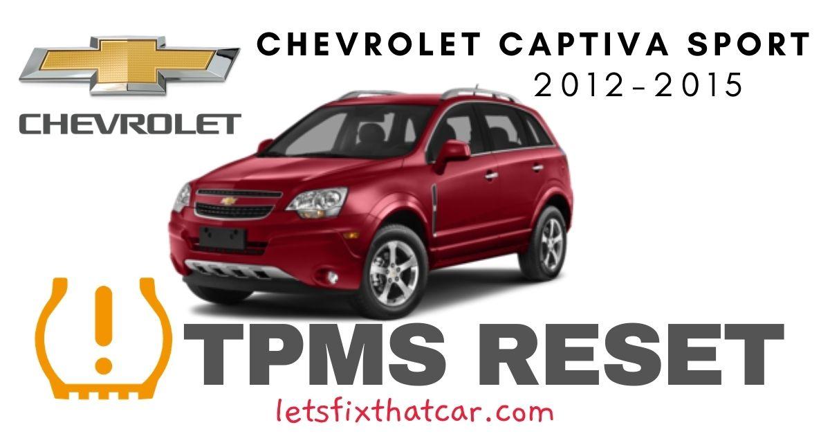 TPMS Reset-Chevrolet Captiva Sport 2012 – 2015 Tire Pressure Sensor