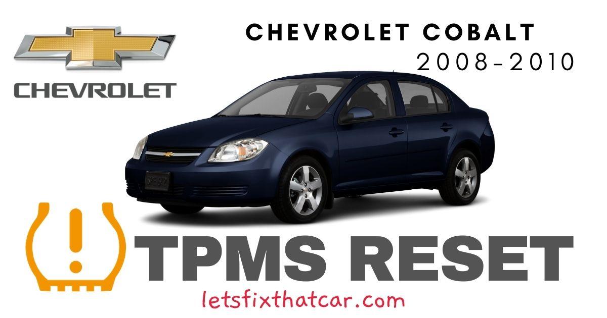 TPMS Reset-Chevrolet Cobalt 2008 – 2010 Tire Pressure Sensor
