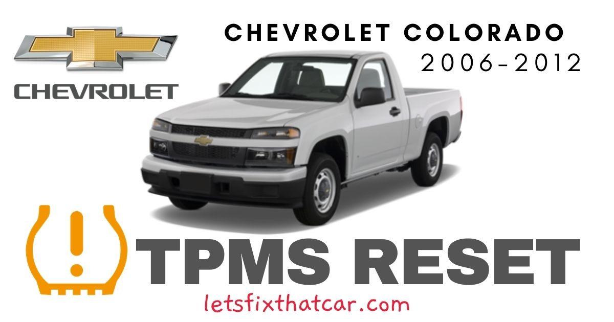 TPMS Reset-Chevrolet Colorado 2006 – 2012 Tire Pressure Sensor
