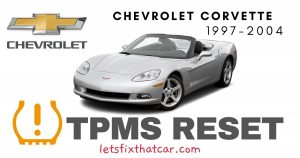 TPMS Reset-Chevrolet Corvette 1997 – 2004 Tire Pressure Sensor