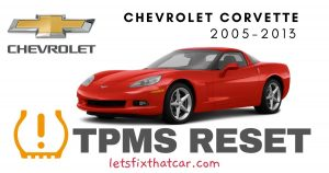 TPMS Reset-Chevrolet Corvette 2005 – 2013 Tire Pressure Sensor
