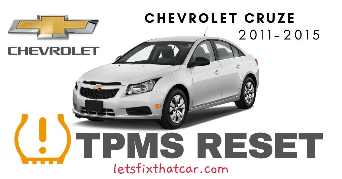 TPMS Reset-Chevrolet Cruze 2011 – 2015 Tire Pressure Sensor