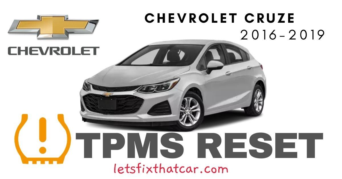 TPMS Reset-Chevrolet Cruze 2016 – 2019 Tire Pressure Sensor