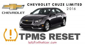 TPMS Reset-Chevrolet Cruze Limited 2016 Tire Pressure Sensor