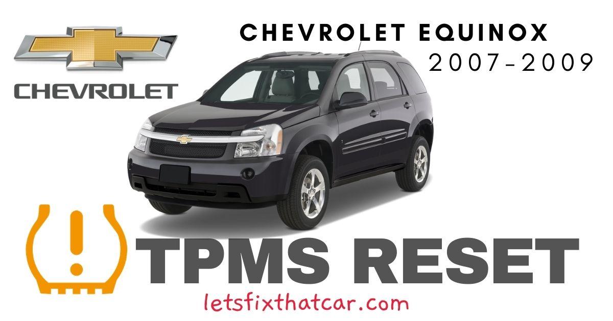 TPMS Reset-Chevrolet Equinox 2007 – 2009 Tire Pressure Sensor