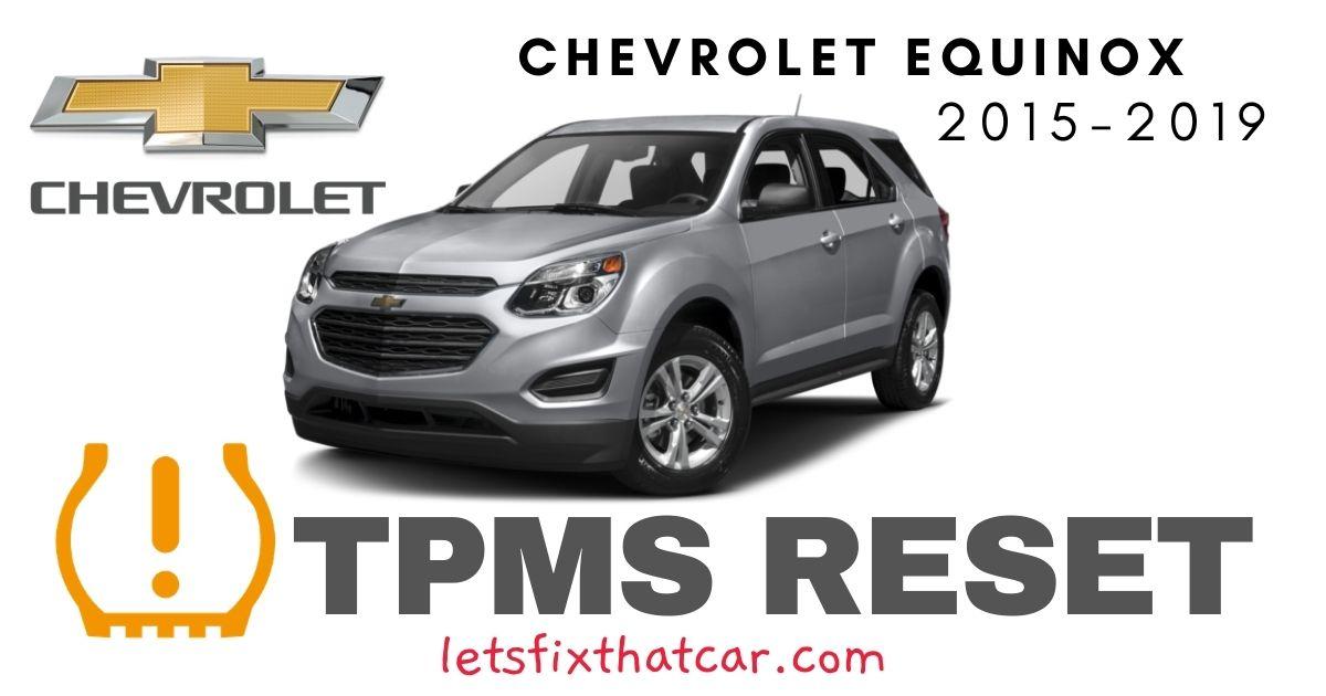 TPMS Reset-Chevrolet Equinox 2015 – 2019 Tire Pressure Sensor