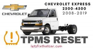 TPMS Reset-Chevrolet Express 2500-4500 2008 – 2019 Tire Pressure Sensor