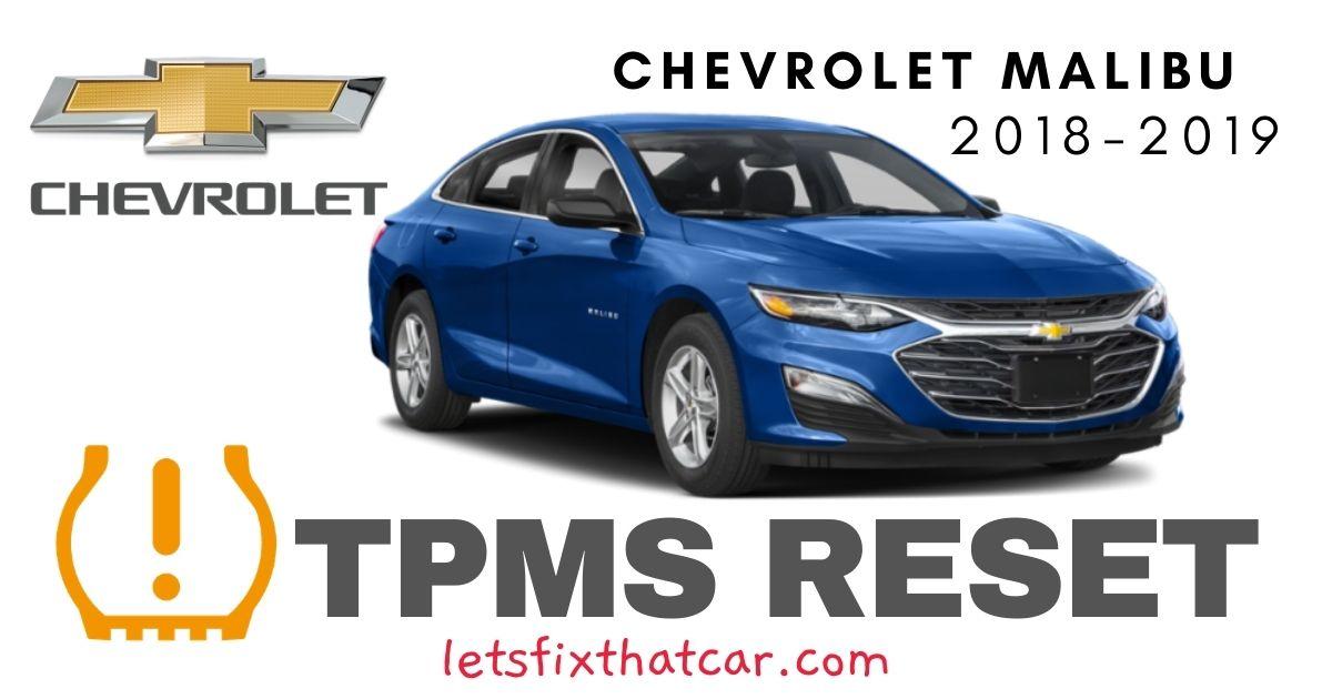 TPMS Reset-Chevrolet Malibu 2018-2019 Tire Pressure Sensor