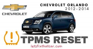 TPMS Reset-Chevrolet Orlando 2012-2014 Tire Pressure Sensor