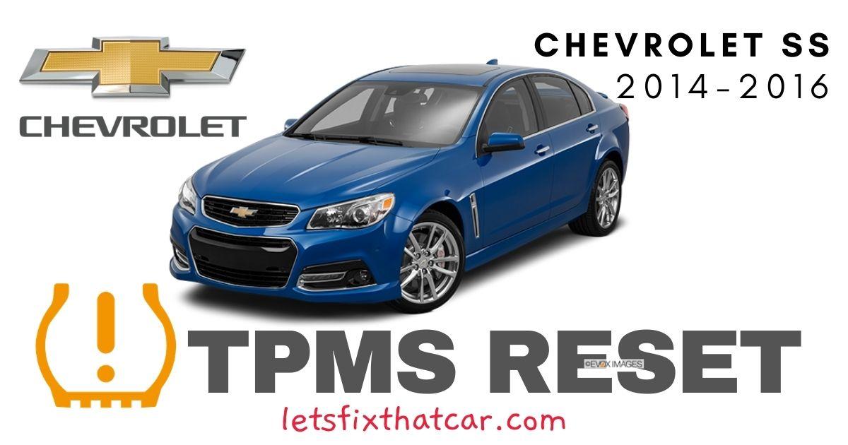 TPMS Reset-Chevrolet SS 2014-2016 Tire Pressure Sensor