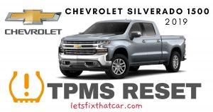 TPMS Reset-Chevrolet Silverado 1500 2019 Tire Pressure Sensor