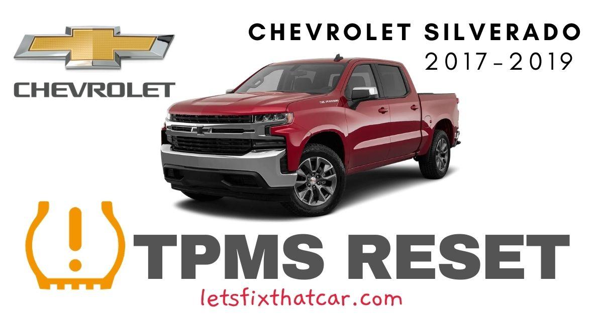 TPMS Reset-Chevrolet Silverado 2017-2019 Tire Pressure Sensor