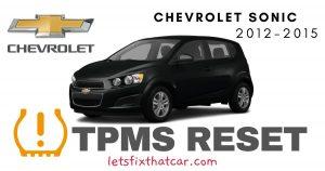 TPMS Reset-Chevrolet Sonic 2012-2015 Tire Pressure Sensor