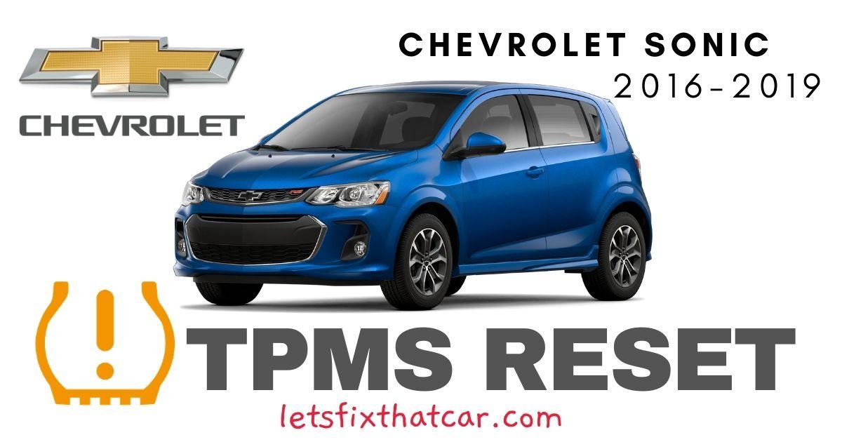 TPMS Reset-Chevrolet Sonic 2016-2019 Tire Pressure Sensor